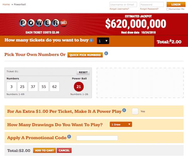 Illinois Lottery Online ticket