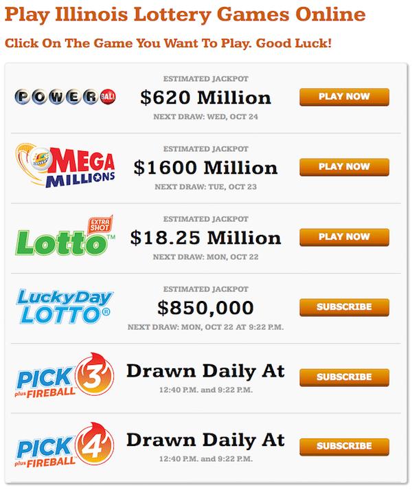 Illinois Lottery games
