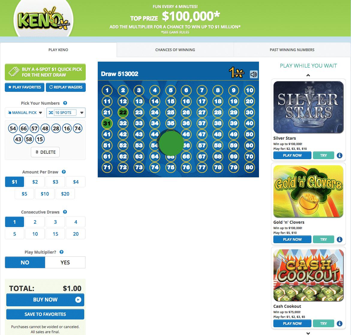 Kentucky lottery keno online lottery
