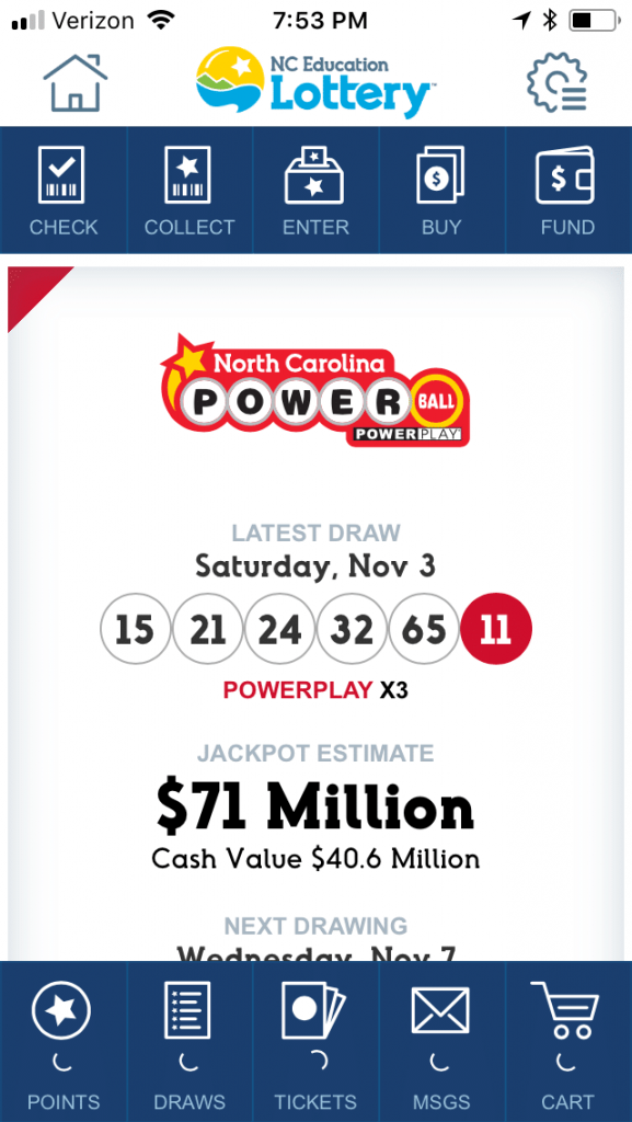 NC Lottery mobile 1