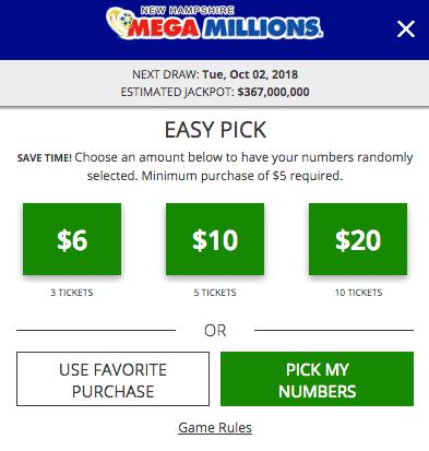 NH Online Lottery Mega Millions