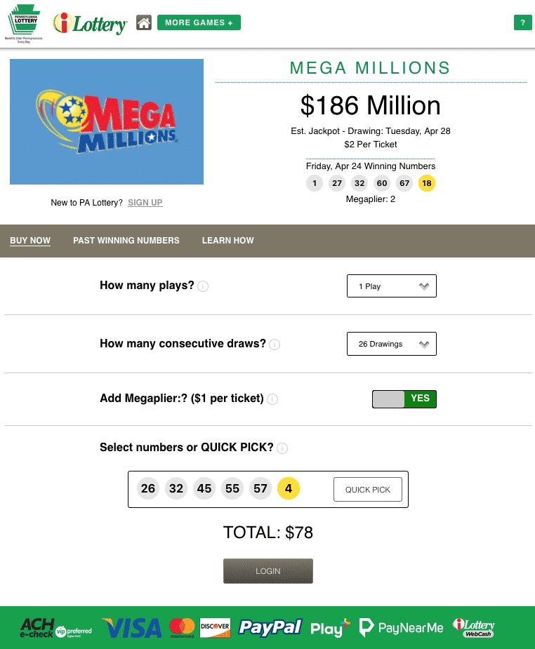 Pennsylvania Mega Millions