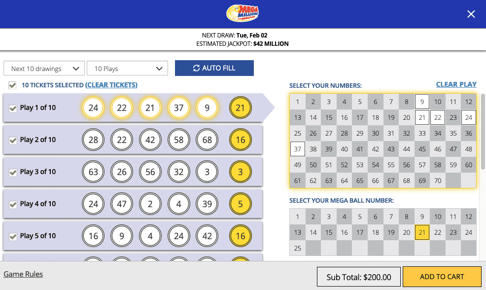 VA online lottery Mega Millions